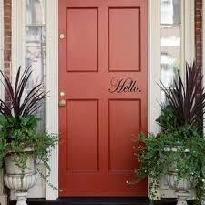 Hello Door Decal Wayfair