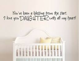 Daughter Blessing Vinyl Wall Decal Sticker Home Decor Family Ebay