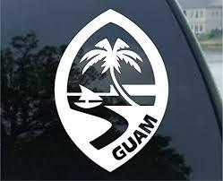 Decal Addiction Inc Guam Logo White V Buy Online In Ecuador At Desertcart