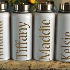Name Decals For Cups Vinyl Name Decal Water Bottle Decal Etsy