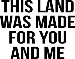 Amazon Com This Land Was Made For You And Me Vinyl Decal Wall Laptop Bumper Sticker 5 Automotive