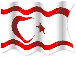 Kuzey kıbrıs türk cumhuriyeti bayrağı stok fotoğraflar