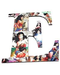 Can T Miss Bargains On 9 5 Inch Wonder Woman Wall Letters Nursery Letters Wooden Letters Custom Letters Superhero Decor Avengers Comics Kids Names Kids Room
