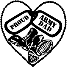 Proud Army Dad Dog Tags Heart Combat Boots Car Or Truck Window Decal Sticker Rad Dezigns