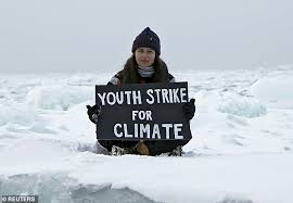 Myra-Rose Craig, 18, protesting climate change on Arctic ice. On Sep 15 sea  ice reached its second lowest extent since record-keeping. :  interestingasfuck
