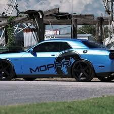 Mopar Side Decal On A Challenger Dodge