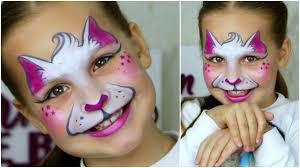 simple cat face makeup toddler