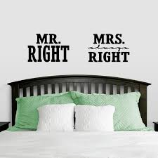 Shop Mr Right Mrs Always Right Large Wall Decals On Sale Overstock 12099460