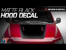 2015 2017 F150 American Muscle Graphics Matte Black Hood Decal W F 150 Logo Review Install Youtube