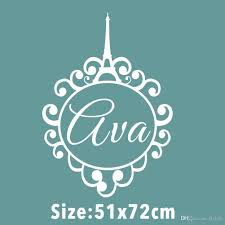 Custom Made Personalized Name Eiffel Tower Monogram Paris Girls Monogram Quote Vinyl Wall Decal Sticker Home Decoration Vinyl Decals Wall Vinyl Decals Walls From Flylife 11 56 Dhgate Com