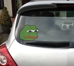 Rare Sad Pepe Car Window Vinyl Decal 4ch Buy Online In China At Desertcart