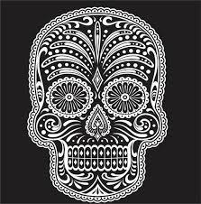 Sugar Skull Wall Decal Vinyl Sticker Decals Sugar Skull Day Etsy