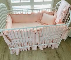 bedding with ruffles baby girl crib
