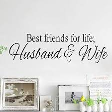 Dupetoner Best Friends For Life Husband Amp Wife Quotes Wall Decor F Funstyling Com