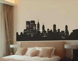 New York Skyline Wall Decal 39 In X 15 In 32 Bedroom Design Diy New York Bedroom New Room