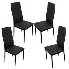 black pu leather dining side chairs