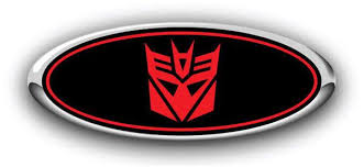 Ford Transformers Overlay Logo Emblem Sticker Skin Decal Autografix Designs Chevy Ford Overlay Custom Emblem Decals Stickers