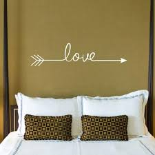 multiple colour love arrow decals wall