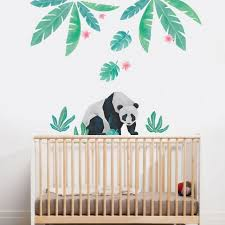 Watercolor Monstera Tropical Jungle Leaves Wall Stickers