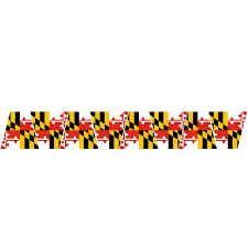 Maryland Flag Reflective Helmet Tetrahedrons Tets Police Fire Ems Viny Graphics Stickers Decals Dkedecals