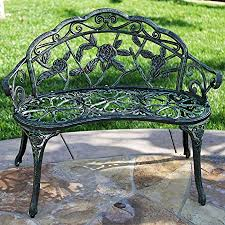 belleze rose style park bench love seat