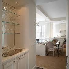 mirror backed bar shelves design ideas