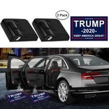 2pcs Donald Trump 2020 Keep America Great Logo Car Door Lights Logo Projector For All Car Models Universal Wireless Door Led Projector Lights Upgraded Car Door Welcome Logo Lights 2020trumpmall