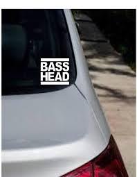 Basshead Bass Music Edm Bass Head Decal Laptop Phone Tumbler Car Sticker Reflective Holographic Bass Head Car Decals Vinyl Vinyl Decals