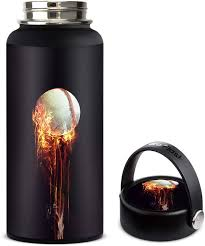 Amazon Com Skin Decal Vinyl Wrap For Hydro Flask 32oz Wide Mouth Stickers Skins Cover Fireball Baseball Flames Kitchen Dining