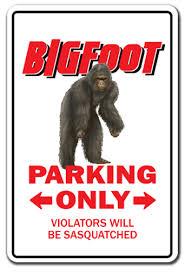 Bigfoot Parking Decal Sasquatch Animal Folklore Tall Walmart Com Walmart Com
