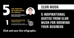 quotes of elon musk to live by and base your business around