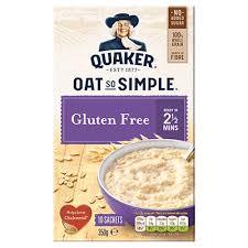 quaker oat so simple gluten free sachets