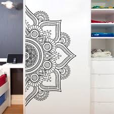 New Fashion Mandala Wall Decals Art Half Mandala Headboard Home Decor Bohemian Wall Stickers Bedroom Meditation Yoga Studio Wall Buy At The Price Of 3 77 In Aliexpress Com Imall Com