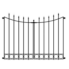 Vigoro Beaumont No Dig 40 4 In H X 53 7 In W Black Steel Decorative Fence Gate 860169 The Home Depot Steel Fence Fence Panels Fence Gate