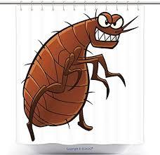 Amazon.com: vanfan-Cool Shower Curtains Cartoon Flea Animal ...