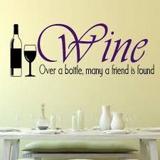 Wine Over A Bottle Wall Decal Decal The Walls