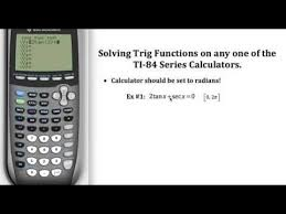solving trig equations on a ti 84