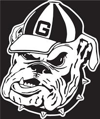 24 White Georgia Bulldog Vinyl Decal Wesellspirit Com