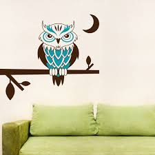 Night Owl On A Branch Wall Decal Owl Wall Sticker