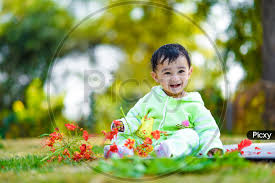 indian cute baby boy closeup shot