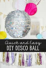 Make This Quick And Easy Diy Disco Ball For Your New Years Eve Party Or For Any Time Of The Disco Theme Parties Disco Party Decorations Disco Birthday Party
