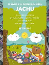 20 Invitaciones Picnic Cumpleanos Animales 480 00 En Mercado Libre