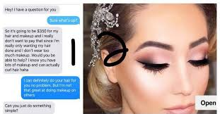bride wants friend to do her hair