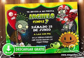 Plantas Vs Zombies Invitaciones Gratis Mega Idea