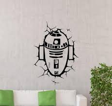R2d2 Decal Star Wars Wall Decal R2 D2 Droid Vinyl Sticker Teen Etsy
