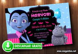 Invitacion Vampirina Gratis En Powerpoint Mega Idea