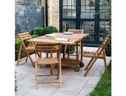 zeno solid oak garden table and 4