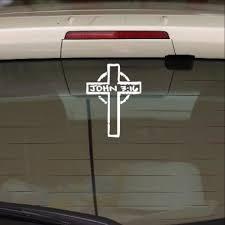 Cross With John 3 16 Vinyl Car Decal Christian Decals Cuttin Up Custom Die Cuts