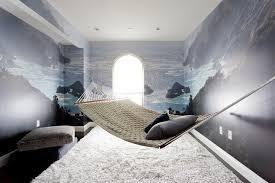Boys Room With Ocean Mural And Hammock Contemporary Boy S Room