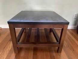 pottery barn connor square coffee table